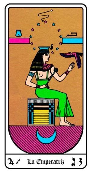 la empetriz y su interpretacion en el tarot egipcio