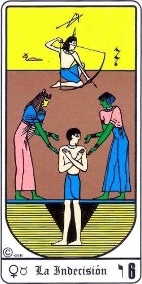 significado de la indecision en el tarot egipcio