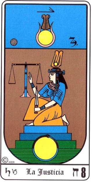 significado de la justicia en el tarot egipcio