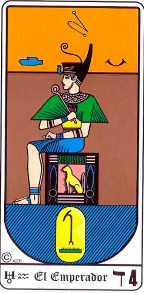 significado emperador tarot egipcio